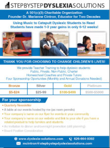 dyslexia solutions donation